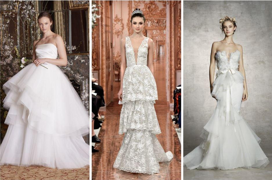 Rétegelt menyasszonyi ruha