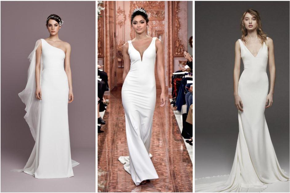 minimalista menyasszonyi ruha